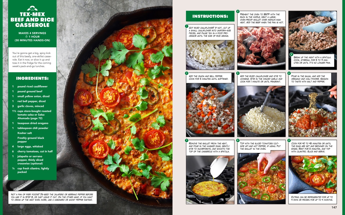 Tex-Mex Beef and Rice Casserole - Recipe Layout