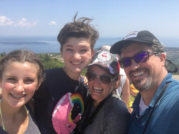 Summit of Cadillac Mountain. Acadia National Park. Bar Harbor, ME